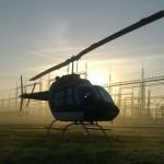 Rotorflug Helikopter Umspannwerk