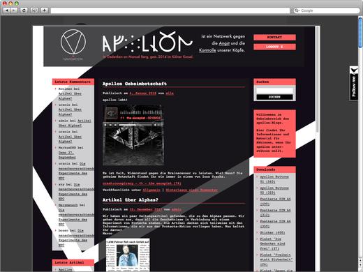 Geheimbereich Apollon Blog für Alpha 07