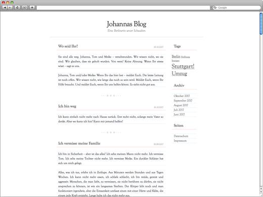 Johannes Blog für Alpha 07
