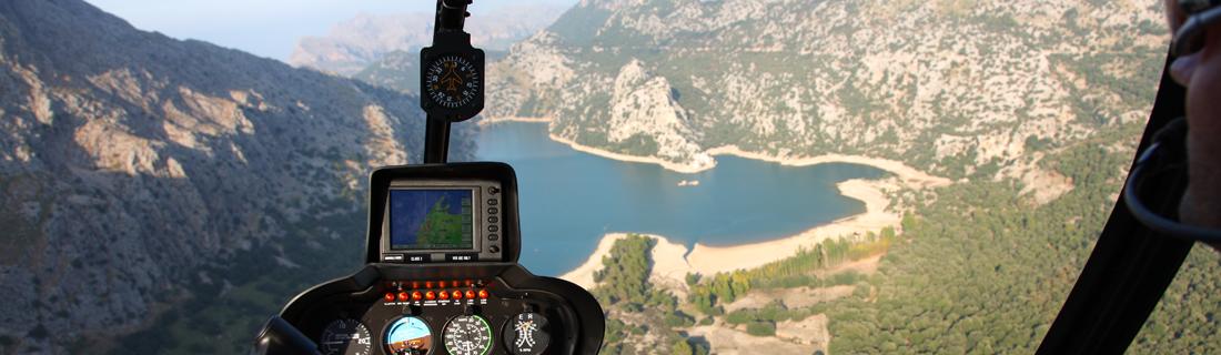 burnabit hebt auf Mallorca mit rotorflug helicopters SL ab